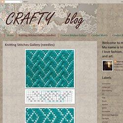 Knitting Stitches Gallery (needles)