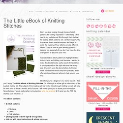 The Little eBook of Knitting Stitches – Laylock Knitwear Design