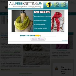 Knitting Stitches Library (with Videos)