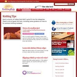 Knitting Tips