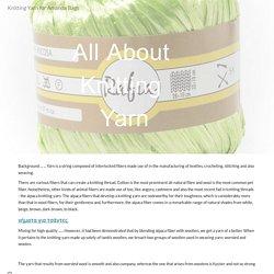 Knitting Yarn for Amanda Bags