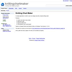 knittingchartmaker - A knitting chart designing program