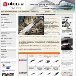 offers pocketknives and hunting knives.