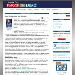 Knock em Dead: How To Increase Job Security