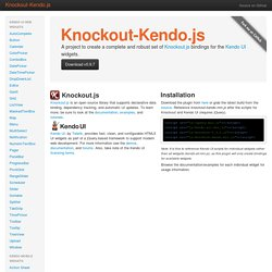 Knockout-Kendo.js - a set of Knockout.js bindings for Kendo UI