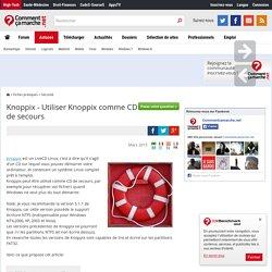 Knoppix - Utiliser Knoppix comme CD de secours