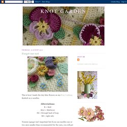 Knot Garden: Forget-me-not