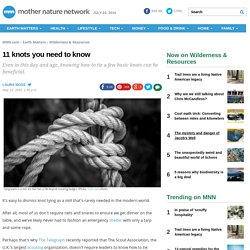 11 knots you need to know