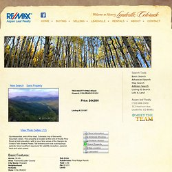 TBD KNOTTY PINE ROAD, Howard, COLORADO 81233 is for sale- Re/Max Aspen Leaf Realty
