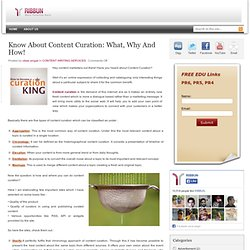» Know About Content Curation: What, Why And How! »