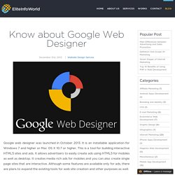 Know about Google Web Designer