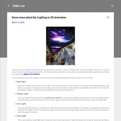 Know more about the Lighting in 3D Animation