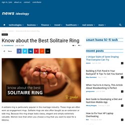 Know about the Best Solitaire Ring