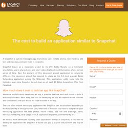 Know the cost to develop App Like Snapchat