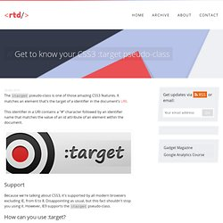 Get to know your CSS3 :target pseudo-class