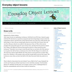 Everyday object lessons