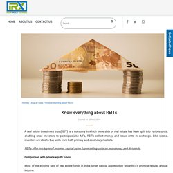 Know everything about REITs