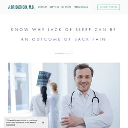 Know Why Lack of Sleep Can be an Outcome of Back Pain