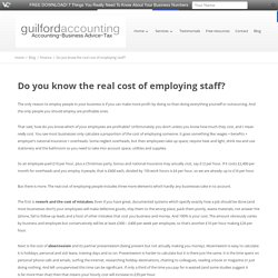 Do you know the real cost of employing staff?
