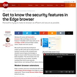 Get to know the security features in the Edge browser - CNET