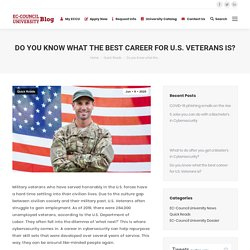 Do you know what the best career for U.S. Veterans is?