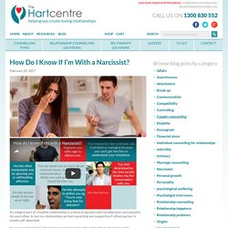 How Do I Know If I'm With a Narcissist?