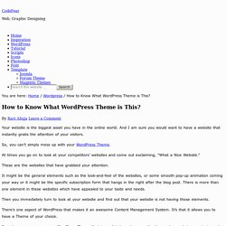 How to Know What WordPress Theme is This? CodeFear