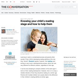 Knowing your child's reading stage and how to help them