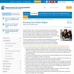 Knowing Your Child's Rights