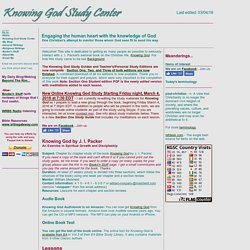 Knowing God Study Center