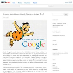 "Knowing More About – Google Algorithm Update ""Fred"""