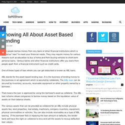 Knowing All About Asset Based Lending