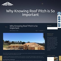 Why Knowing Roof Pitch is So Important