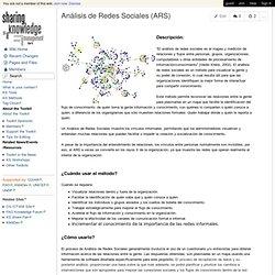 Análisis de Redes Sociales (ARS)