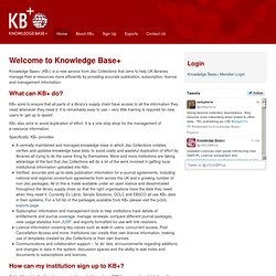 Knowledge Base+