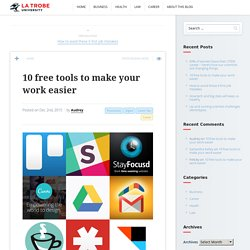10 free tools to make your work easier