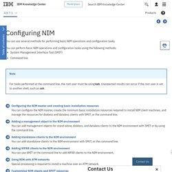 IBM Knowledge Center - Configuring NIM