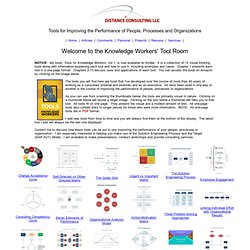 The Knowledge Worker's Tool Room: Conceptual and Visual Tools for Knowledge Workers