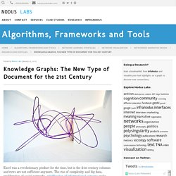 Knowledge Graphs: The New Type of Document for the 21st Century