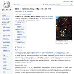 Tree of the knowledge of good and evil