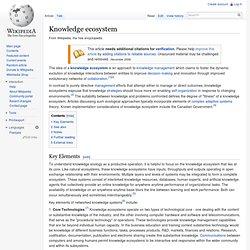 Knowledge ecosystem