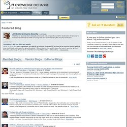 IT Knowledge Exchange Tech Blogs