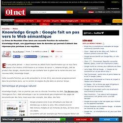Knowledge Graph : Google fait un pas vers le web sémantique