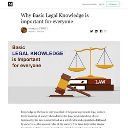 Why Basic Legal Knowledge is important for everyone