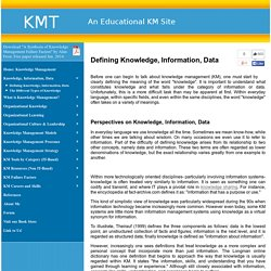 Knowledge Information Data