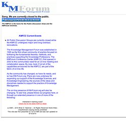 The Knowledge Management Forum (KMForum)