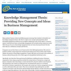 Knowledge management project thesis