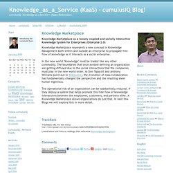 Knowledge_as_a_Service (KaaS) - cumulusIQ Blog!: Knowledge Marke