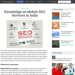 Knowledge on Mobile SEO Services in India