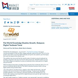 Flat World Knowledge Doubles Growth, Outpaces Digital Textbook Trend